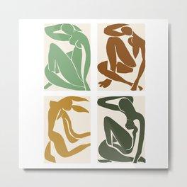 Matisse nude woman contrasting season hues  Metal Print