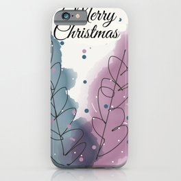 Christmas Tree Card iPhone Case