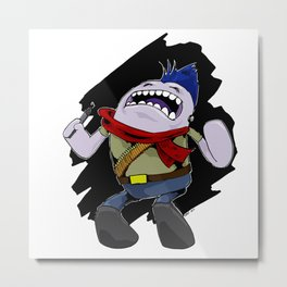 Angry illustrator Metal Print