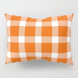 Plaid Persimmon Orange Pillow Sham