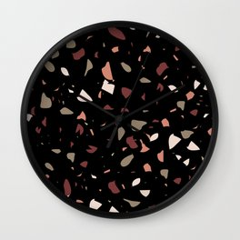 Terrazo NoirBackground Wall Clock