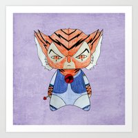 thundercats Art Prints featuring A Boy - Tygra (Thundercats) by Christophe Chiozzi