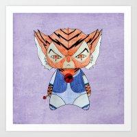 thundercats Art Prints featuring A Boy - Tygra (Thundercats) by Christophe Chiozzi