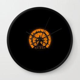 Jesus Cross Faith 3 Crosses Wall Clock
