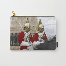 Household Cavalry Changing Of The Guard Art Carry-All Pouch