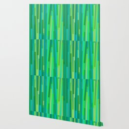 Geometric Green Painting Wallpaper