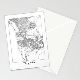Tijuana White Map Stationery Cards