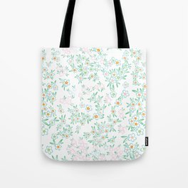 Forget me nots on white - in memory... Tote Bag