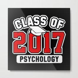 Class Of 2017 Psychology Metal Print