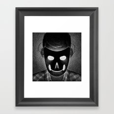 Drawlloween 2014: Mask Framed Art Print