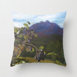 Blackberries Under Sleeping Beauty Throw Pillow