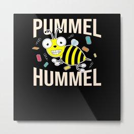 Diet Chubby Bumblebee Slimming Overweight Gift Metal Print