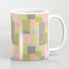 Seedlings - Gray / Rose / Green Coffee Mug