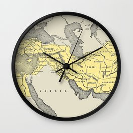 Vintage Map of Alexander The Greats Empire (1913) Wall Clock