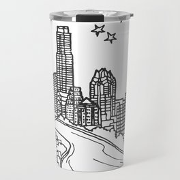 Austin, Texas City Skyline Illustration Drawing Travel Mug