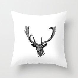 """Nice Shooting Tee For Hunters Saying """"Deer With American Flag"""" T-shirt Design Hunting Rifle Gun Throw Pillow"""
