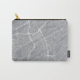 Birmingham Map, Alabama USA - Pewter Carry-All Pouch