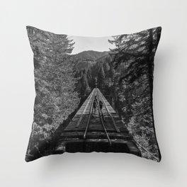 Vance Creek Bridge, Shelton, WA Throw Pillow