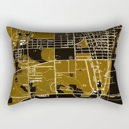 Fort Lauderdale old map year 1949, united states old maps Rectangular Pillow