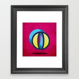 """Typographic Letter """"O"""" Framed Art Print"""