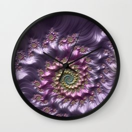 Lilac Wine Wall Clock