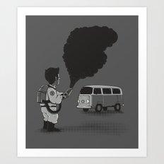 Smokebuster Art Print