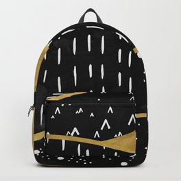 Gold Sun, digital surreal landscape Backpack
