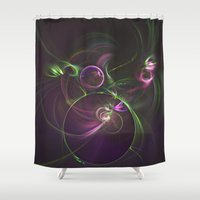 physics Shower Curtains featuring The Motion of Celestial Bodies by Nirvana.K