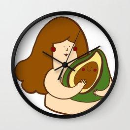 Avocado bae Wall Clock