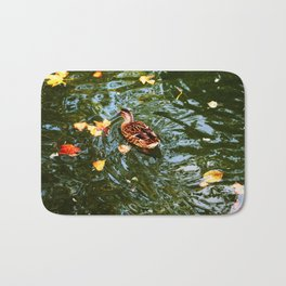 Duck in autumn Bath Mat