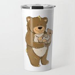 cute bears, father and son Travel Mug