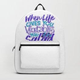 Inspirational When Live Gives you Vegetables Make a Salad Backpack