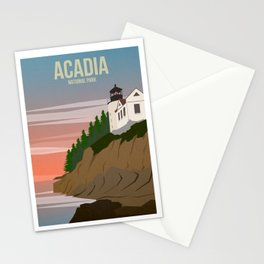 Acadia National Park Travel Poster Stationery Cards
