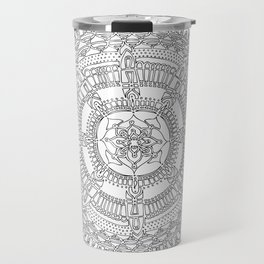 Exhilarating on White Background Travel Mug