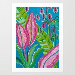 Pink Leaf Art Print