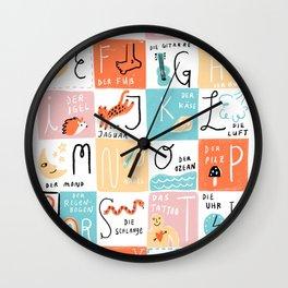 Das Alphabet Wall Clock