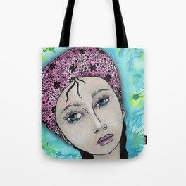 Blue Gypsy Girl Tote Bag