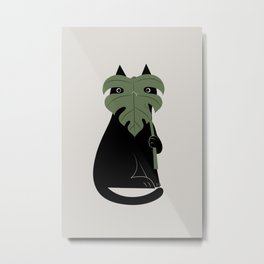 Cat and Plant 14: Monster-a Metal Print