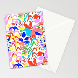 60's Fiesta Floral 2 in White Stationery Cards