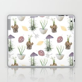 Mushrooms, spurge, horsetail, lily of the valley, leaves. Laptop & iPad Skin