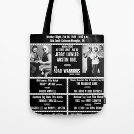 #11-B Memphis Wrestling Window Card Tote Bag