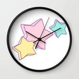 Kiddy Stars Wall Clock