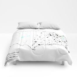 Hannah and Morgan - Map of US Comforters
