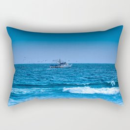 Deep Blue Fishing Rectangular Pillow