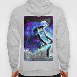 Black Ballerina  Violet Turquoise Blue Hoody