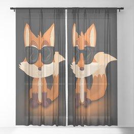 Cool Fox Sheer Curtain
