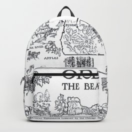Vintage Map of Oregon (1912) - BW Backpack
