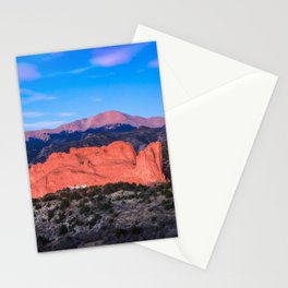 Pikes Peak - Sunrise Over Garden of the Gods in Colorado Springs Stationery Cards