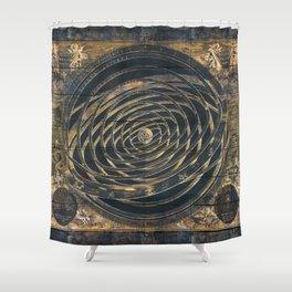 Zodiac Old World Shower Curtain