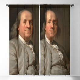 """Joseph Siffred Duplessis """"Benjamin Franklin"""" Blackout Curtain"""